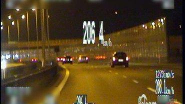 Pościg za kierowcą pędzącym 206 km/h na S8