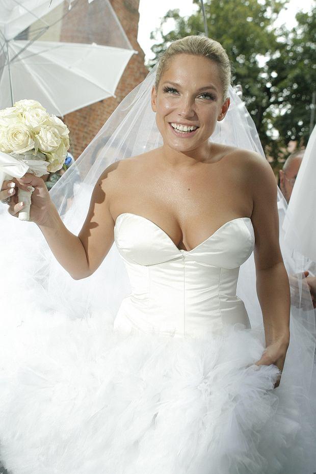 Joanna Liszowska na swoim ślubie z Olą Serneke w 2010 roku