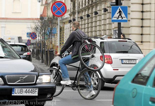 25.04.2013 Lublin . Lubelscy rowerzysci . Fot. Piotr Michalski / Agencja Gazeta  SLOWA KLUCZOWE: rower rowerzysta