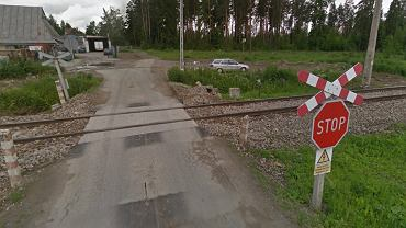 Przejazd kolejowy w Szaflarach