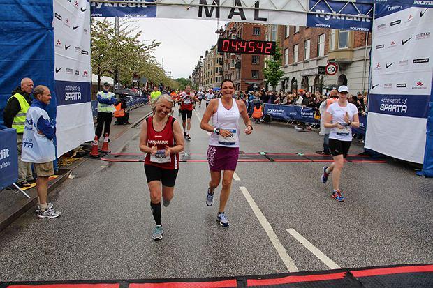 Annette na mecie Maratonu w Kopenhadze