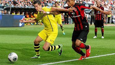 Robert Lewandowski w meczu z Eintrachtem Frankfurt