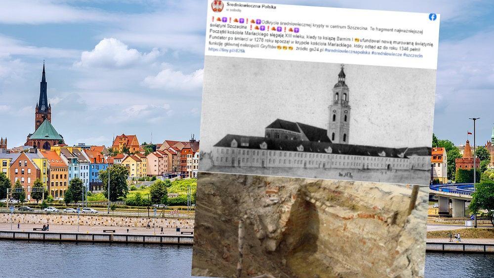 Odkrycie na terenie liceum w Szczecinie