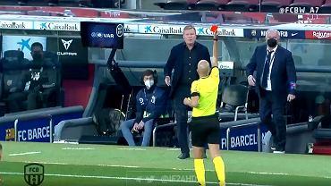 Czerwona kartka dla Ronalda Koemana w meczu Barcelona - Granada (1:2)