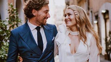 Magdalena Lamparska z mężem