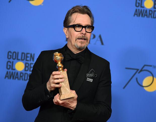 Gary Oldman - Złote Globy 2018. Beverly Hills, 7 stycznia 2017