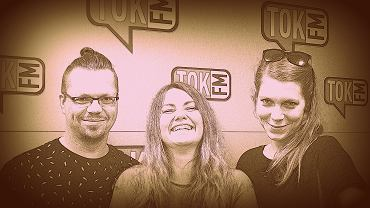 Marta Żakowska, Martyna Obarska, Artur Celiński - redaktorzy czasopisma 'Magazyn Miasta' w studiu radia TOK FM