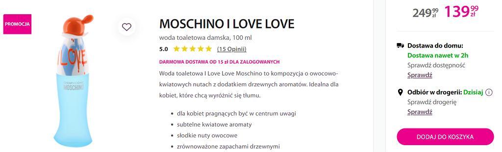 Moschino perfumy