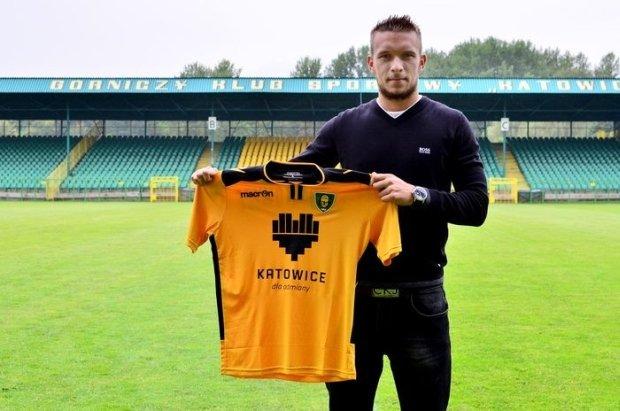 Michał Grunt jako piłkarz GKS Katowice