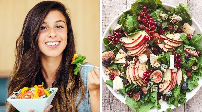 W sałatce powinny się znaleźć węglowodany, białka i tłuszcze