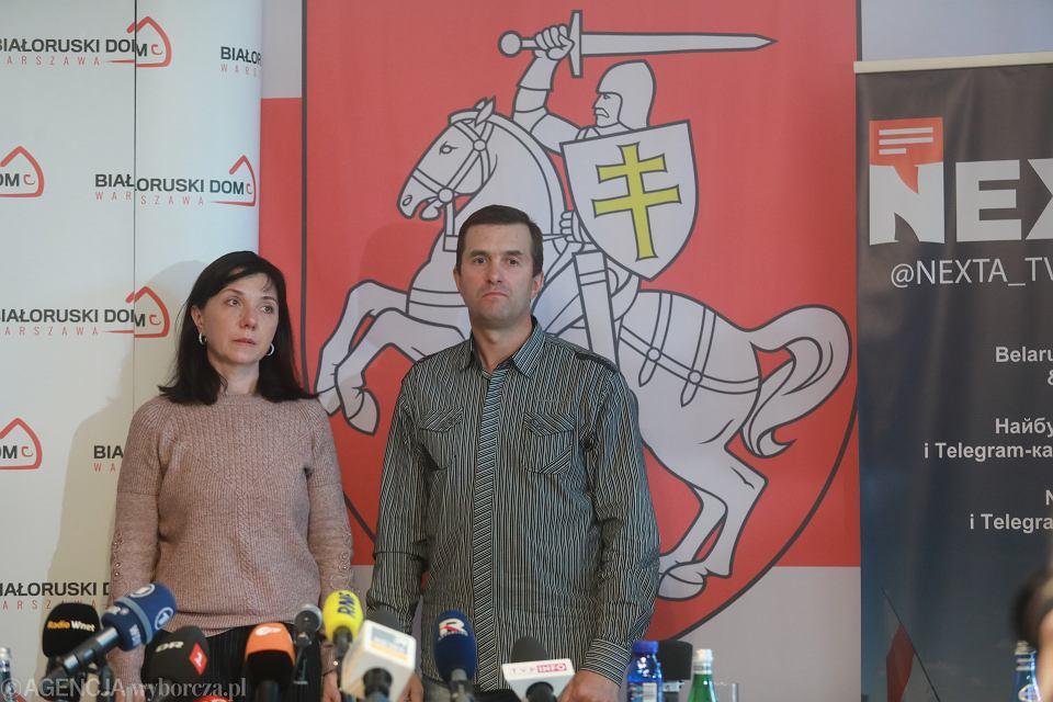 Konferencja prasowa rodziców Ramana Protasiewicza w Domu Białoruskim w Warszawie, 27 maja 2021 r.