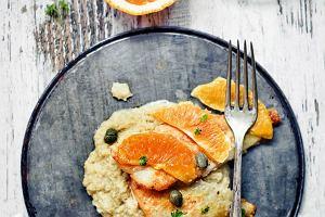 Ryba w sosie pomarańczowym z purée z kopru włoskiego