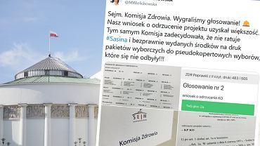 Komisja zdrowia odrzuciła projekt ustawy dot. rekompensaty za wybory 10 maja