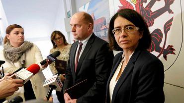 Minister cyfryzacji Anna Streżyńska z marszałkiem województwa Piotrem Całbeckim