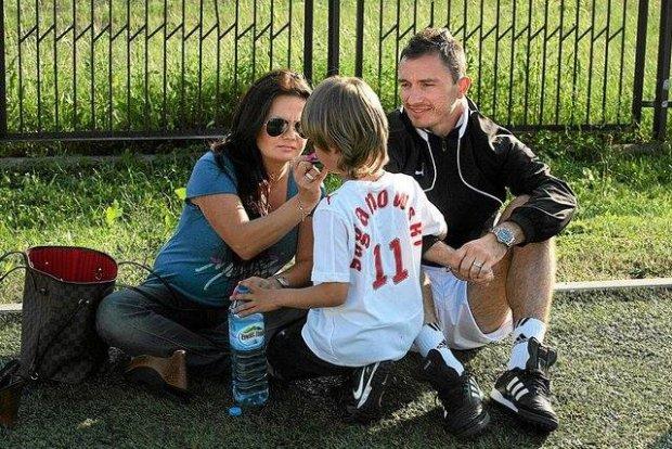 Marek Saganowski z rodziną