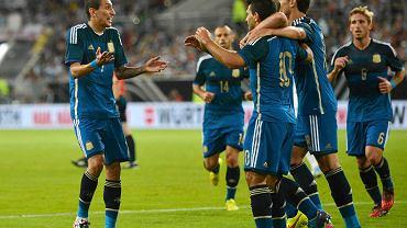 Radość Argentyńczyków, z lewej Angel di Maria