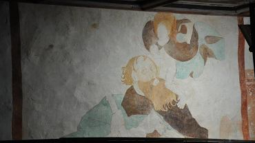 Freski w kościele w Niedźwiedzicy