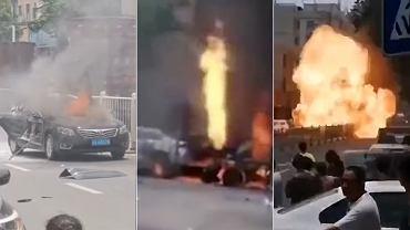 Wybuch samochodu w Chinach