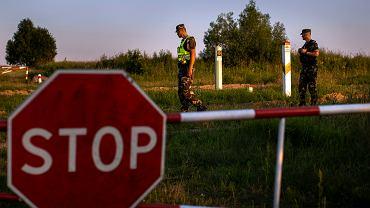 Litewska Straż Graniczna na granicy z Białorusią w Purvenai.