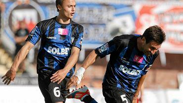 Michał Masłowski i Bernardo Vasconcelos w meczu z Wisłą