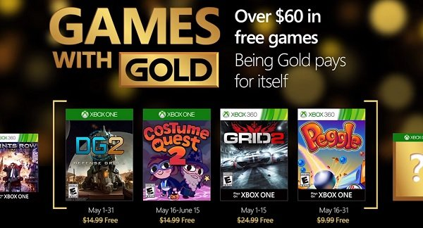 Games with Gold - maj 2016