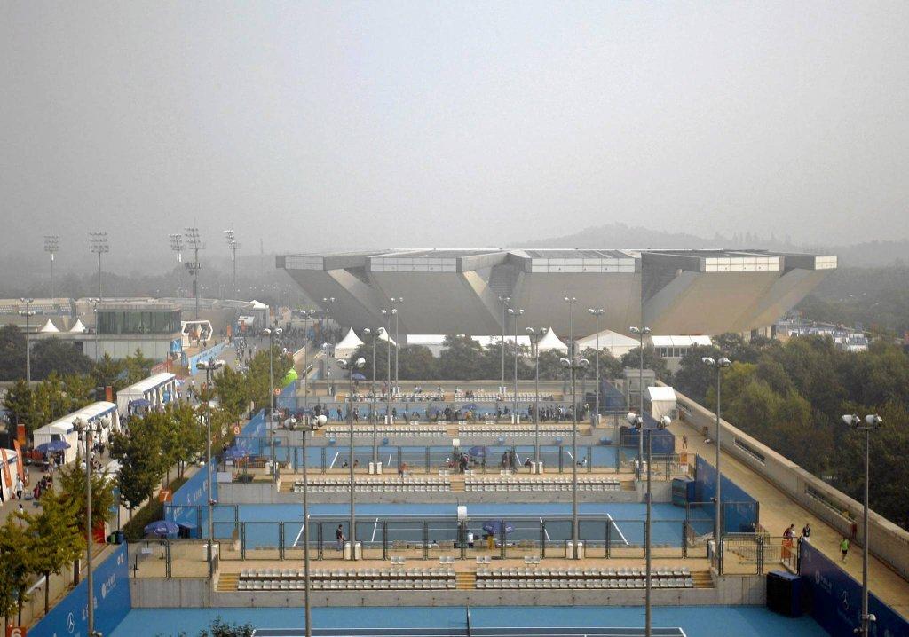 Smog nad kortami w Pekinie