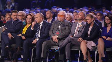 Lech Wałęsa na konwencji KO
