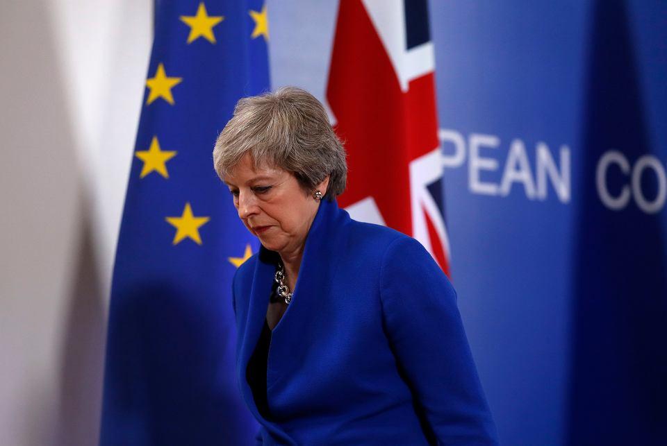 Premier Theresa may podczas szczytu UE dot. brexitu. Bruksela, 25 listopada 2018