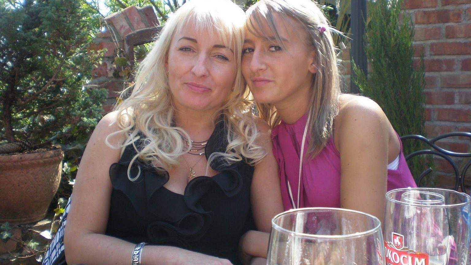 Iwona Wieczorek z mamą