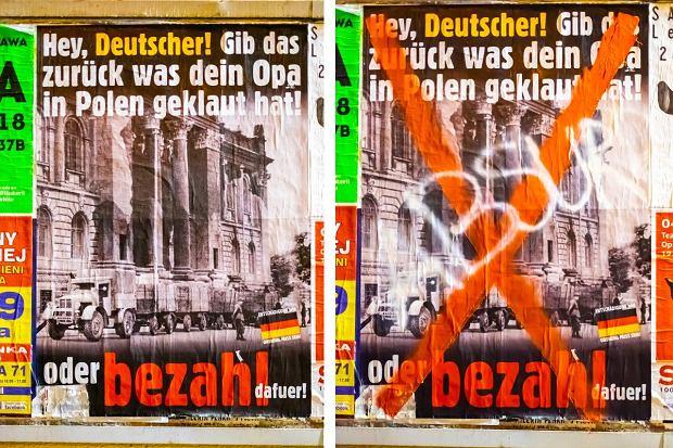 Aktywiści Zakleili Antyniemieckie Plakaty Krasnalu Oddaj