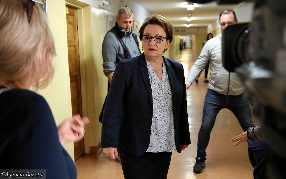 Minister edukacji Małgorzata Zalewska