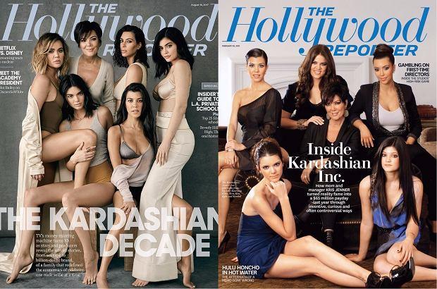 Zdjęcie numer 1 w galerii - Odtworzono okładkę Kardashianów sprzed lat. Rodzina niby ta sama, a jednak na starym zdjęciu niektórych trudno rozpoznać