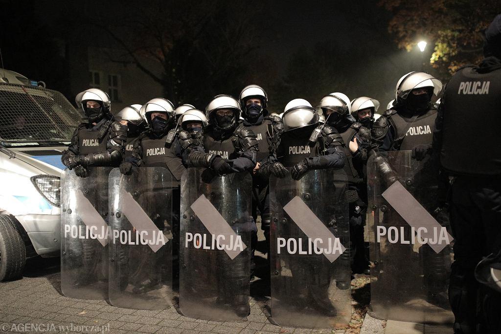Policja podczas strajku kobiet (zdjęcie ilustracyjne)