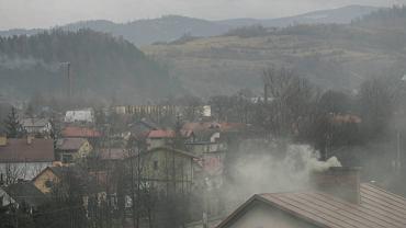 Smog w beskidzkiej miejscowości