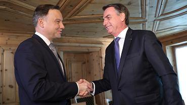 Andrzej Duda i Jair Bolsonaro