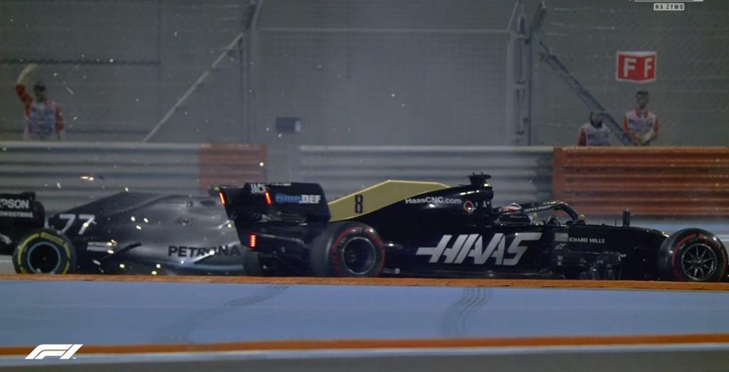 Kolizja Bottasa z Grosjeanem