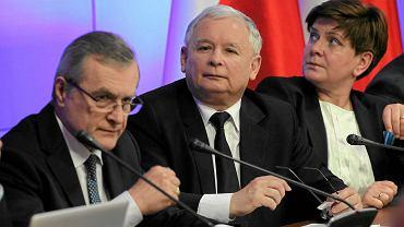 Piotr Gliński, Jarosław Kaczyński i Beata Szydło
