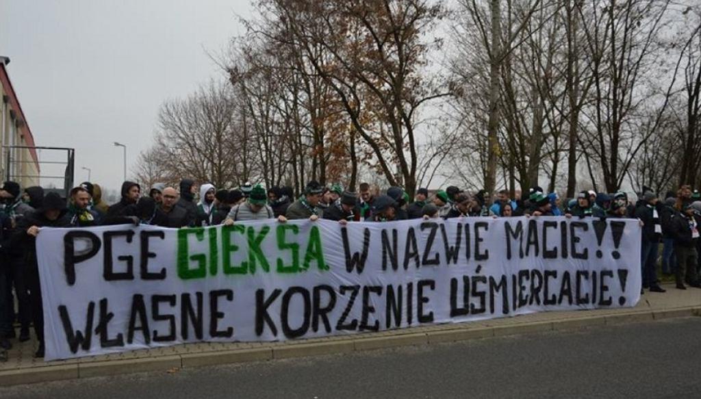Protest kibiców GKS-u