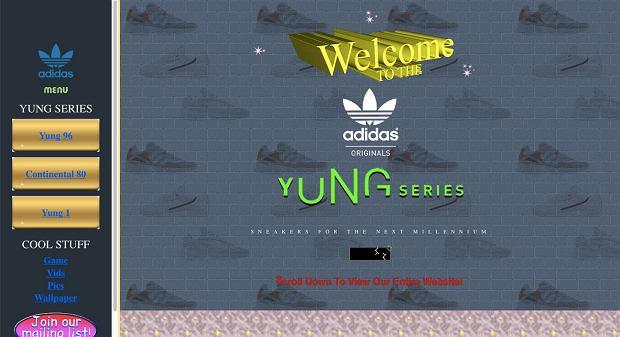 Retrostrona Adidasa poświęcona butom z serii Yung