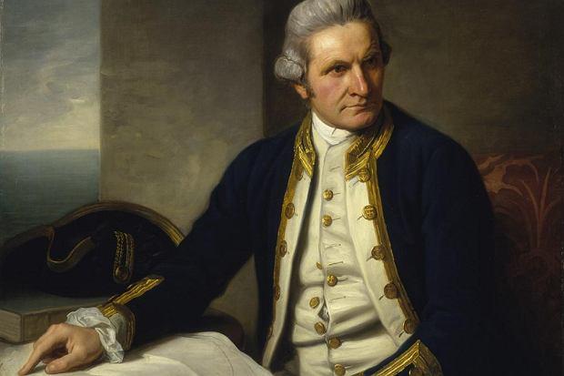 Portret kapitana Cooka z 1776 r. pędzla Nathaniela Dance'a-Hollanda.