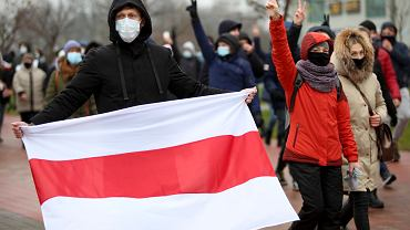 Białoruś. Protest przeciwników Alaksandra Łukaszenki.