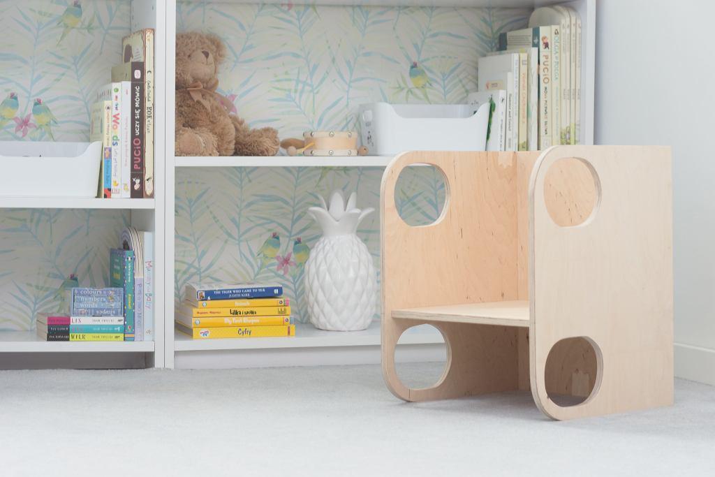 Krzesło dla dziecka ze sklejki