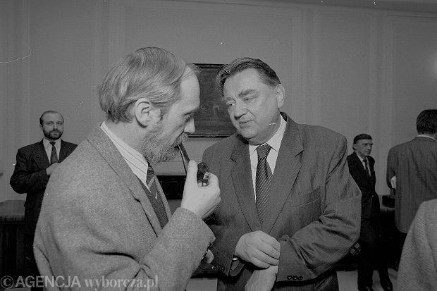 Antoni Macierewicz i Jan Olszewski w 1992 roku