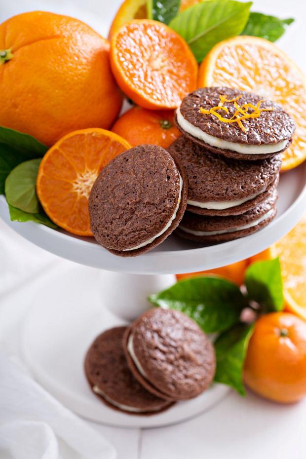 Markizy z kremem pomarańczowym