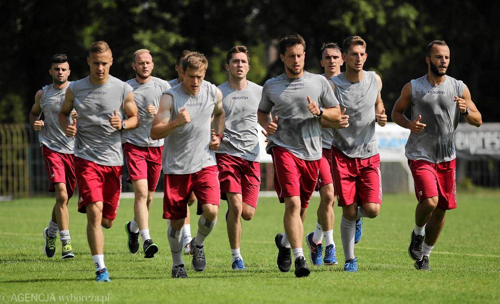 24 czerwca 2016. Piłkarze Rakowa na treningu