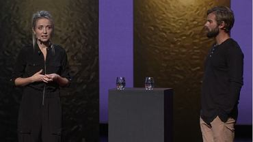 Thordis Elva i Tom Stranger na wspólnym wystąpieniu w ramach TED Talk