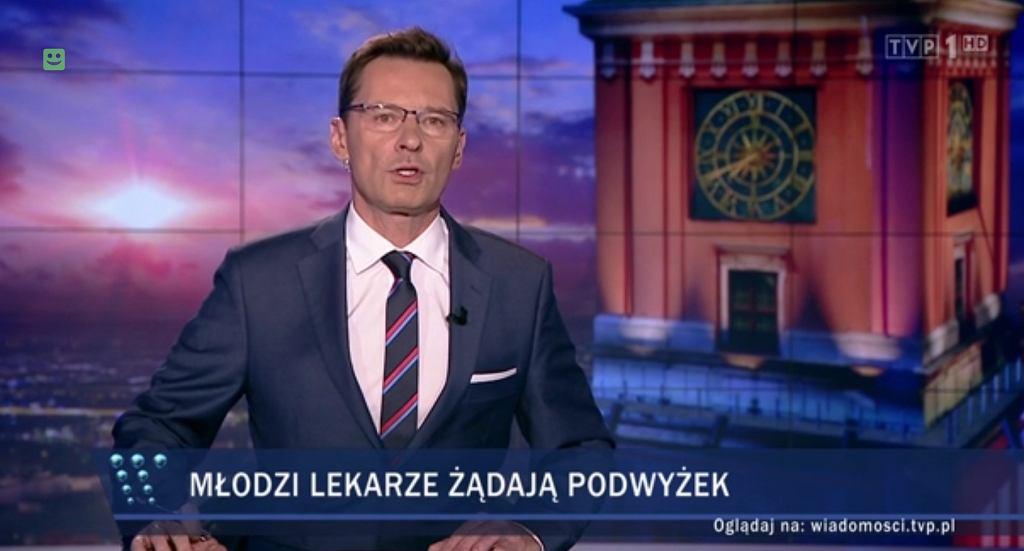 'Wiadomości' TVP o lekarzach rezydentach