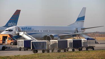Samolot linii Enter Air. Zdjęcie ilustracyjne