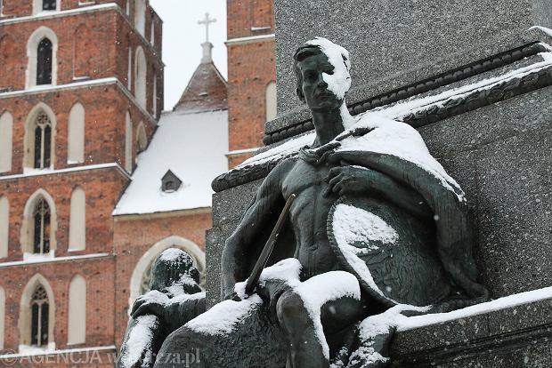 Zdjęcie numer 11 w galerii - Zima w Krakowie - śnieg przykrył ulice, domy, parki [GALERIA]