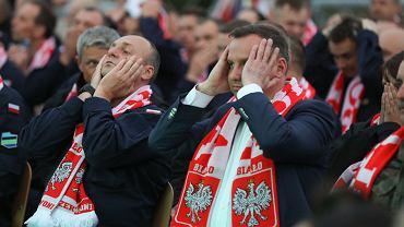 Andrzej Duda podczas meczu Polska - Senegal